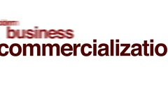 Commercialization animated word cloud. Stock Footage