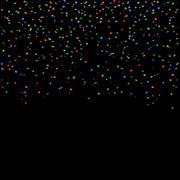 Red blue green confetti celebration isolated background Stock Illustration