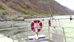 Hell's Canyon Turbo Jet Boats riding Stock Footage