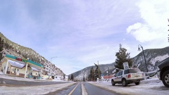 Time-lapse. POV point of view - Driving on highway I70 in the Winter. Stock Footage