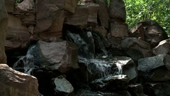 The picturesque area of rough stone and creek Stock Footage