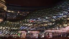 The Zlote Tarasy shopping center. Stock Footage