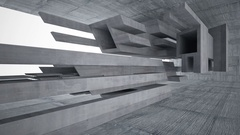 Empty dark abstract concrete room interior. Architectural background. Stock Footage
