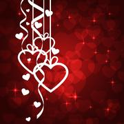 Amazing Valentines background Stock Illustration