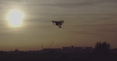 Drone Shot of Inspire 1 Drone with sunset and electricity poles in background 8 Arkistovideo