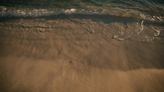 Beach footage, amazing ocean view from sandy beach and waves to the horizon Stock Footage