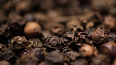 Black Pepper Spice Stock Footage