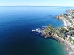 4K Laguna Beach - Flying Away Stock Footage