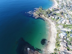 4K Laguna Beach - Flying North Stock Footage