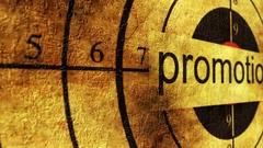 Promotion grunge target concept Stock Footage