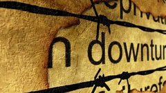 Downturn and barbwire concept Stock Footage
