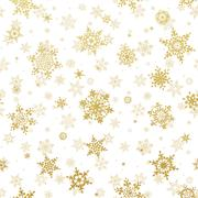 Shine golden snowflakes. EPS 10 Stock Illustration