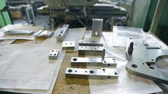 Parts machined reamed prepared to replace manufacturing installation Stock Footage