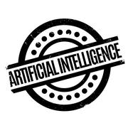 Artificial Intelligence rubber stamp Stock Illustration