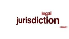 Jurisdiction animated word cloud. Stock Footage