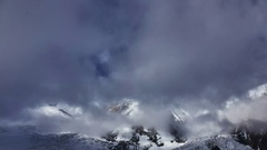 Bad weather in mountain landscape. Time lapse Stock Footage