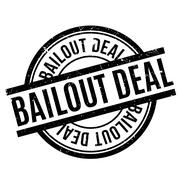Bailout Deal rubber stamp Stock Illustration