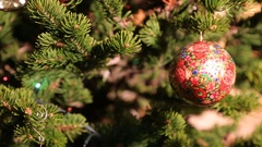 Christmas tree with painted ball Stock Footage