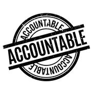 Accountable rubber stamp Stock Illustration
