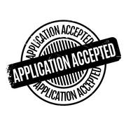 Application Accepted rubber stamp Stock Illustration