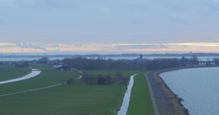 Landscape shot of marken with drone Stock Footage