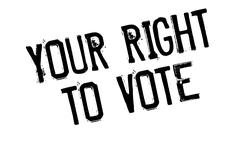 Your Right To Vote rubber stamp Stock Illustration