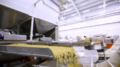 Factory for the production of pasta Stock Footage