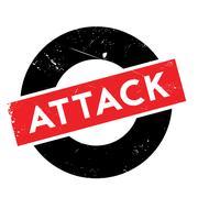 Attack rubber stamp Stock Illustration