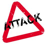 Attack rubber stamp Stock Illustration