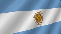 Flag of Argentina waving. 3d render seamless loop Stock Footage