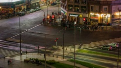 Night traffic, Buenos Aires, Argentina Stock Footage