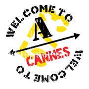 Cannes stamp rubber grunge Stock Illustration