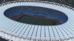 Olympic stadium, Rome. Stadio Olimpico. Del Debbio - Moretti Stock Footage