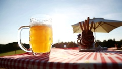 German beer from bavaria (weiss beer) Stock Footage