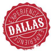 Dallas stamp rubber grunge Piirros