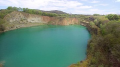 Closed Down Quarry Stock Footage