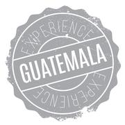 Guatemala stamp rubber grunge Stock Illustration