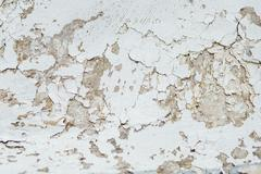Texture Close Up statue of Chipped White peeling paint, covered Stock Photos