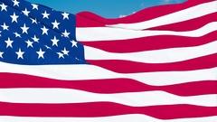 United State of America Flag waving. 3d render. Seamless Loop Stock Footage