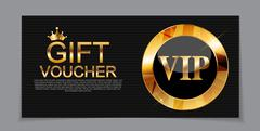 Gift Voucher Template for Discount Coupon  Vector Illustration Stock Illustration