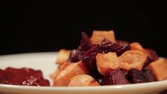 Snack from vegetables. Vegetarian food Stock Footage