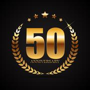 Template Logo 50 Years Anniversary Vector Illustration Stock Illustration