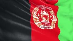 Afganistan Flag Waving. 3d render. Seamless Loop Stock Footage