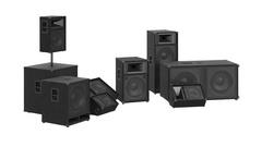Speakers audio loud system Stock Footage