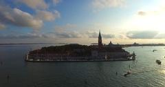 Venezia, Venice panoramic view at sunset UHD, 4K (3840X2160) Stock Footage