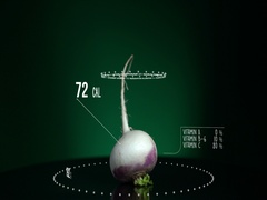 Infographic of Turnip with vitamins, microelements minerals. energy, Stock Footage