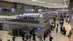 Don Mueang airport interior in Bangkok capital city Stock Footage