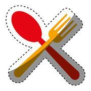 Restaurant cutlery utensil Stock Illustration