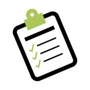 Checklist form symbol Stock Illustration
