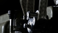 A retro movie projector with moving reels.  Stock Footage
